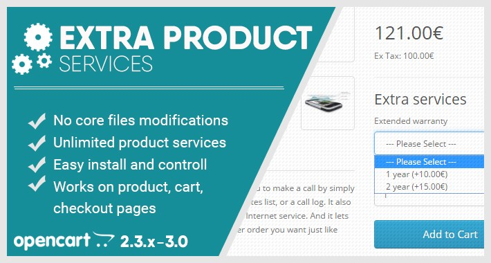 Extra product services (extended warranty, insurance, etc.)