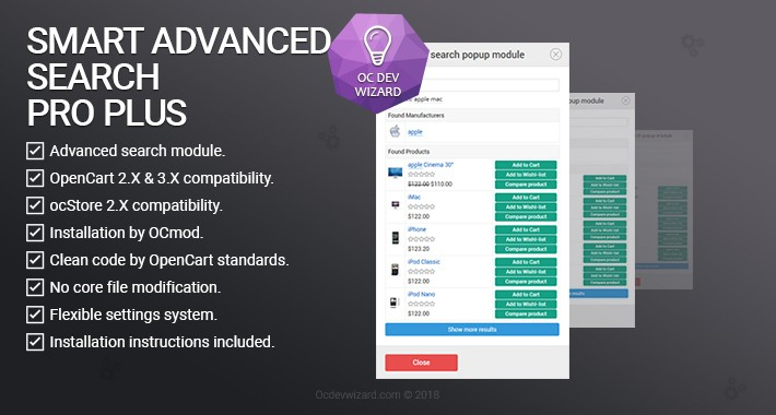 OpenCart Search module - good choice for searching on website!