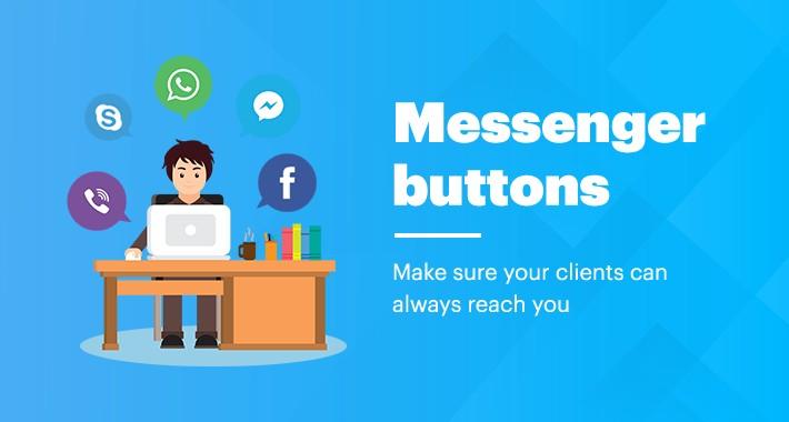 Messenger buttons for Opencart 1.5*-3.*