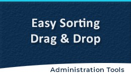 Easy Sort Order with Drag & Drop