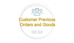 Customer previous orders and goods