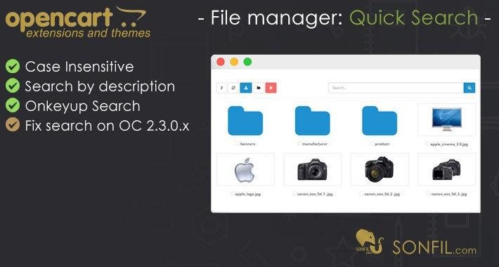 File manager: Quick Search