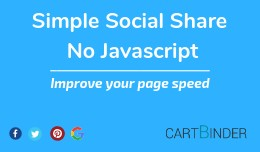 Simple Social Product Sharing: No External Javas..