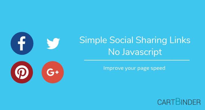 Simple Social Product Sharing: No External Javascript