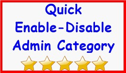 Quick Enable-Disable Admin Category