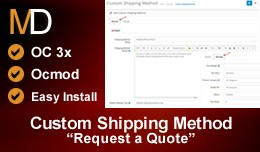 Custom Shipping Method OC 3x - Request a Shippin..