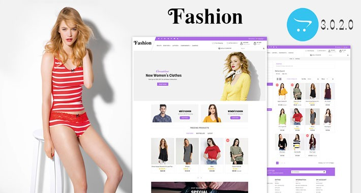 Fashion OpenCart 3.X Website Theme
