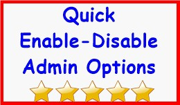 Quick Enable-Disable Admin Options