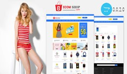 Ecom Multistore OpenCart 3.X Website Theme