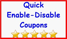 Quick Enable-Disable Coupons