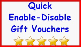 Quick Enable-Disable Gift Vouchers