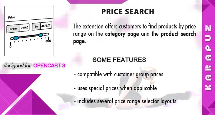 Price Search (for Opencart 3)