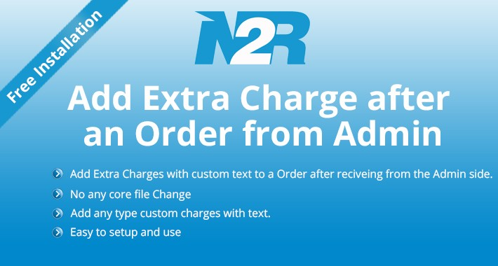 Add Extra Charge after an Order from Admin