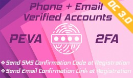 PEVA: Phone and Email Verified Accounts (at regi..