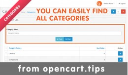Search Field in Admin Category OpenCart
