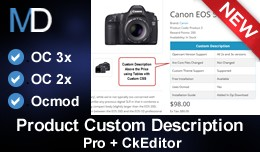 Product Custom Description Pro + CkEditor