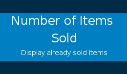 Number of items sold
