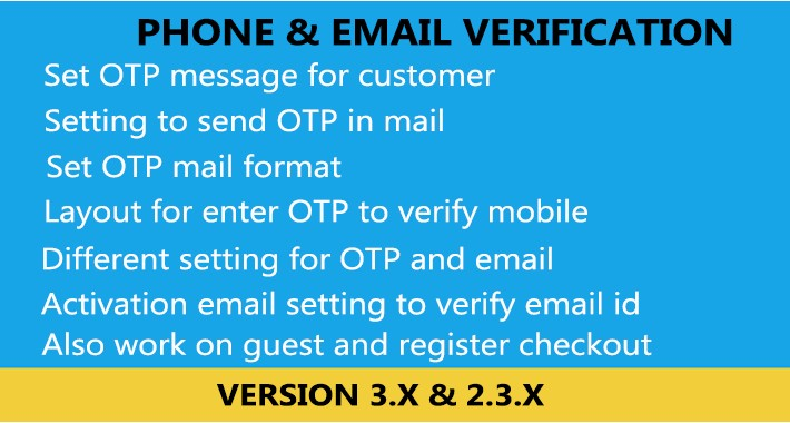 OpenCart - Phone and Email Verification