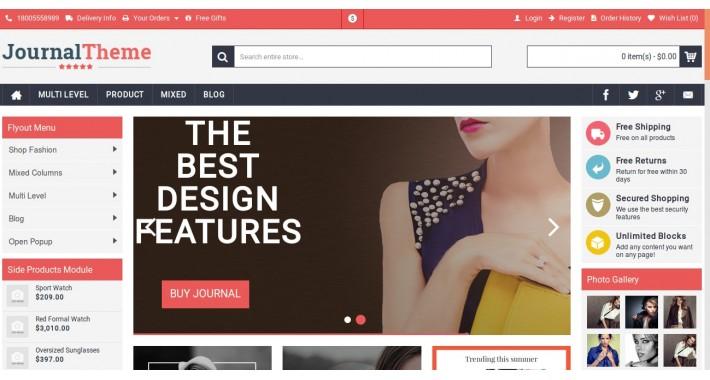 OpenCart - Journal Theme(10) 3 x