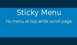 Sticky Menu