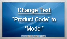 Change Product Code to Model