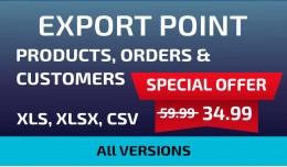 Export Point Products, Orders and Customers