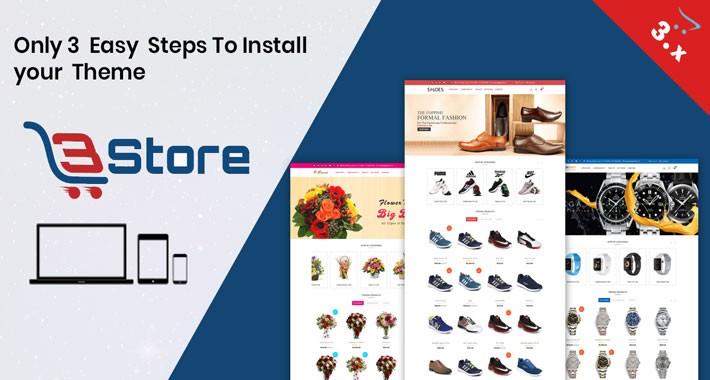 OpenCart - 3store OpenCart 3 X Website Template(Watch,flower