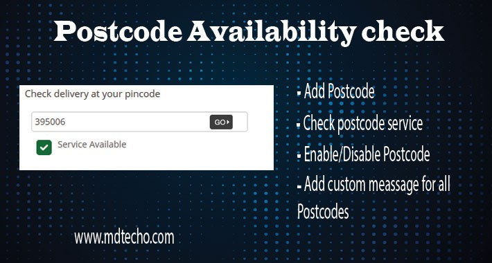 Postcode Availability check