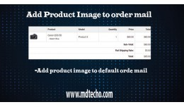 Add product image in order mail