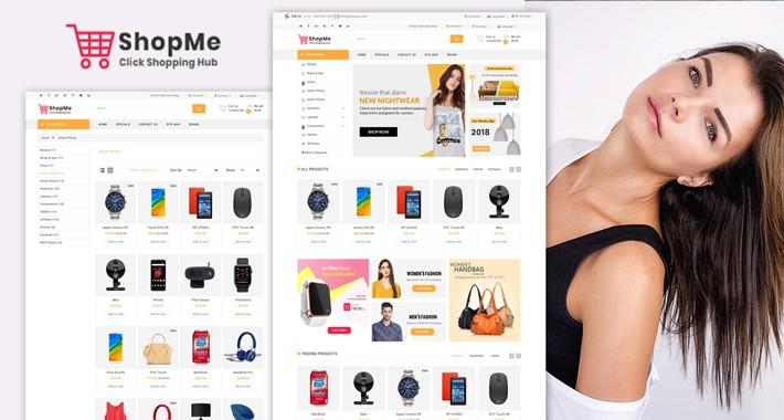 Shopme OpenCart 3 shopping website Theme