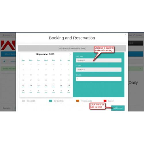 OpenCart - Opencart Advanced Booking Reservation System
