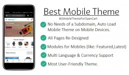 No.1 Best Mobile OpenCart Template Theme Ever By..