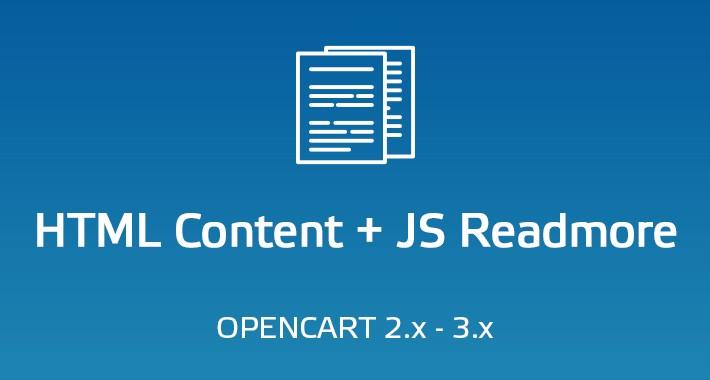 HTML Content + JS Readmore
