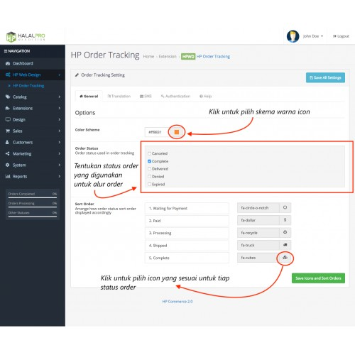 OpenCart - Cek Resi / Order Tracking (Enhanced)