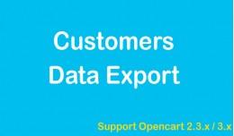 Customers Data Export