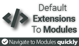 Default Extensions list to Modules