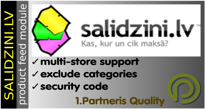 Salidzini.lv Product Feed for OpenCart 2.x and 1.5x