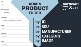 Admin Product Filter by Manufacturer Category SK..