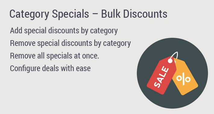 Category Specials – Bulk Discounts