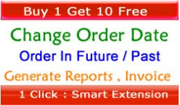 Change Order Date TO Any Future Or Past, Make Cu..