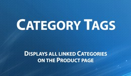 Category Tags - all linked categories on the pro..