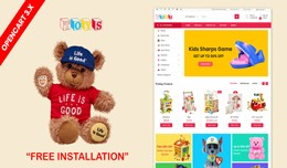 Toys store OpenCart 3.x Website Theme(toys,kids,..