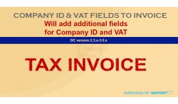 Company ID and VAT No. to invoice