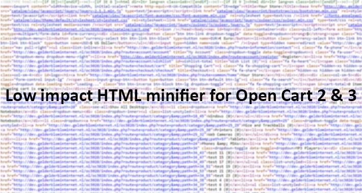 HTML minifier for OC 2 & 3