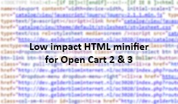 HTML minifier for OC 2 & 3