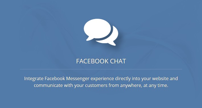 Facebook Chat - Live support for your customers