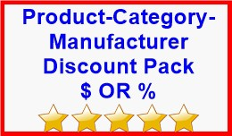 Product-Category-Manufacturer Discount Pack $ OR %
