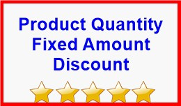 Product Quantity Fixed Amount Discount