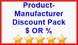 Product-Manufacturer Discount Pack $ OR %