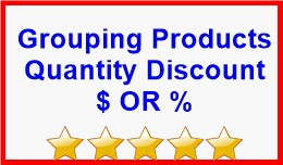 Grouping Products Quantity Discount $ OR %